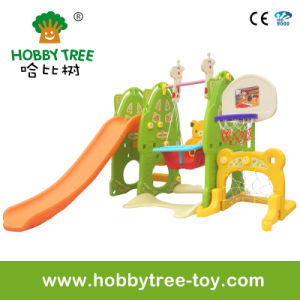 2017 Six Functional Plastic Play Toys with Slide and Basketball (HBS17019C)