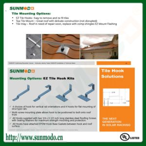 Solar Mounting Hook Brackets for Tile Roof