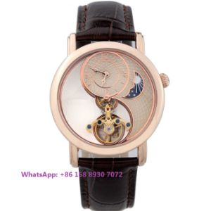 Special Designing Automatic Men′s Watch with Genuine Leather Strap Fs593 pictures & photos