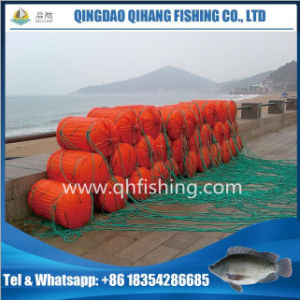 Cage Fish Farming System with HDPE Pipe PE Net pictures & photos