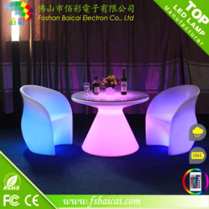 Waterproof Rechargeable LED Garden Chairs LED Outdoor Furniture