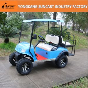 4 Seater Blue Color Hunting Buggy Golf Buggy Electric Power Car