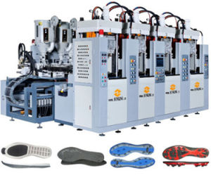 Tr. TPU. PVC Static Injection Mouldig Machine (2 color. four station. two screw) pictures & photos
