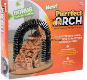 The Cat Scratch Plate Arch Beauty Play Rub Hair Remover Pet Cat Toys pictures & photos