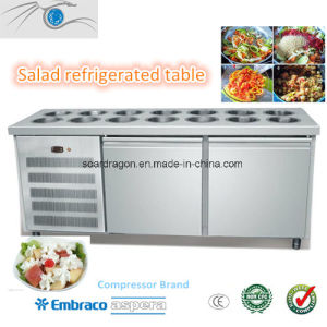 Salad Refrigerated Display Table (WGL1500-2D) pictures & photos