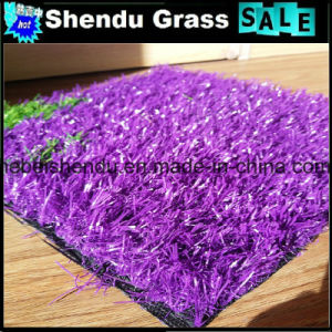 China 30mm Purple Artificial Turf for Outdoor Floor pictures & photos