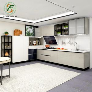 High Quality Australia Modern White Kitchen Pantry Cupboards Kitchen  Cabinets with Whole House Customization