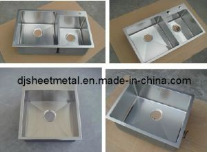 Square Stainless Steel Kitchen Sink by Hand Made