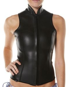 Black Women′s Skin Vest Neoprene Wetsuit Vest Surf Vest for Lady pictures & photos