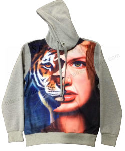 Transfer Printing with Figure Man Clothes with Hood in Sports Knitting Wear