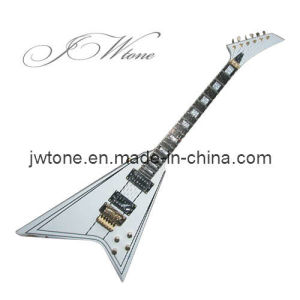 Gold Hardware Block Pearl Inlay Flying V Electric Guitar