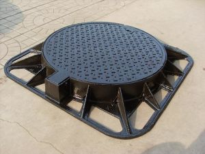 Cast Iron En124 Manhole Covers with Square Frame