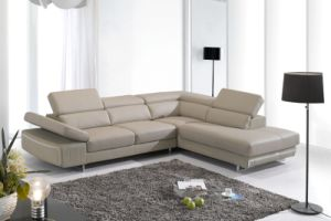 Living Room Leather Sofa for Hotel Project Modern House Furniture (L026)