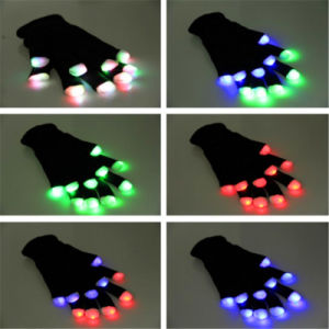LED Lighted up Glowing Flashing Rave Fingertip Gloves