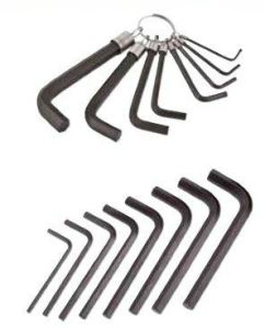 SAE Hex Key with Spring Ring Heat Treatment
