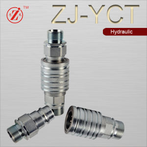 """3//4"""" NPT Thread 3//4"""" Agricultural ISO 5675 Hydraulic Quick Connect Male Coupler"""