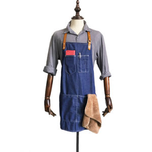 Custom Top Qaulity Blue Denim Apron for Coffee Shop Wholesale