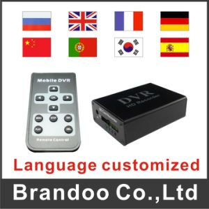 Black Housing Box DVR, Support 64GB SD Memory, D1 Resolution, Auto Recording