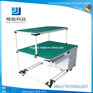 Pipe Rack Workbench with Drawers Display with Plastic Coated Pipes (JJ-GZ09)