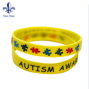 Custom Your Logo on Eco-Friendly Popular Style Silicone Wristband pictures & photos