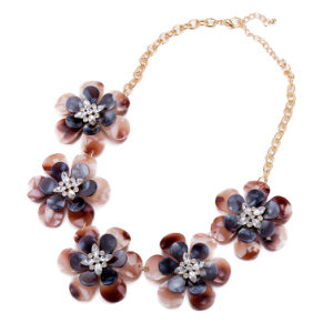 Wholesale Rose Gold Plated Flower Pendant Necklace Jewelry pictures & photos