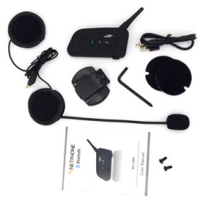 Wireless Motorcycle Helmet Bluetooth Intercom for 6 Riders 1200m GPS Interphone pictures & photos