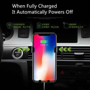 aeda56fff03 Factory 10W Fast Qi Wireless Charger Car Mount Wireless Magnetic Car Charger