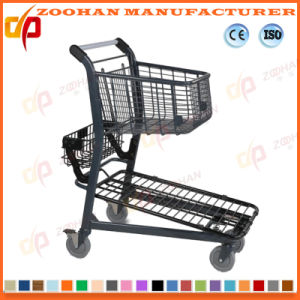 Metallic Compact Store Grocery Supermarket Handling Shopping Cart Trolley (Zht210) pictures & photos