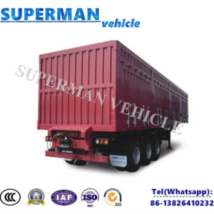 40FT Tri-Axle Side Wall Box Cargo Truck Semi Trailer pictures & photos