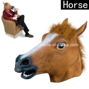 Latex Cosplay Horse Head Mask pictures & photos