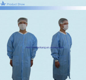 Disposable PP Non Woven Surgical Lab Coat pictures & photos