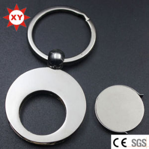 Custom Logo Nickel Plating Round Shape Token Coin Keychain pictures & photos