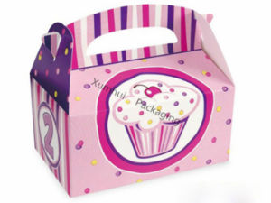 Custom Color Paper Gable Gift Box /Candy Chocolate Cake Box