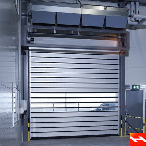 Automatic Stainless Steel High Speed Metal Shutter Garage Door (HF J320)