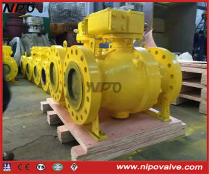 API 6D Cast Steel Flanged Trunnion Ball Valve pictures & photos