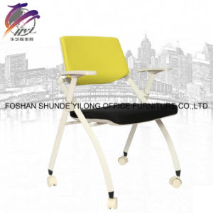 Comfortable Modern Fabric Stackable School Training Room Chair with Writing Pad