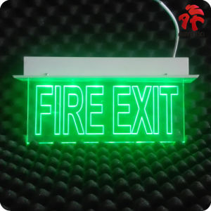 LED Emergency Exit Sign with Recessed Installation