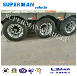 50t 13m 3 Axle Cargo Lowbed/Lowdeck Semi Trailer Lowloader pictures & photos