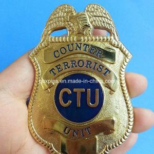 Golden Eagle Police Wallet Badge