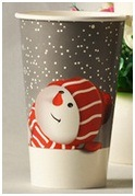 Disposable Paper Cups Environmental Printing Ink, Paper Cup for Christmas