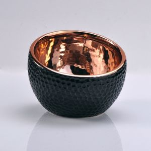 Matte Black Jars Cup Ceramic Candle Containers Wholesale