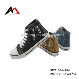 Canvas Casual Shes Zipper Buttons Fashion Footwear for Men Shoe (AK1287-2) pictures & photos