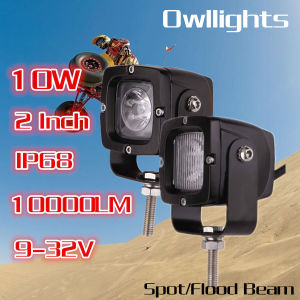 IP68 Hot Sell Car SUV Ship LED Lighting 2inch 10W LED Work Light for Jeep