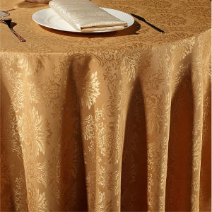 Hotel Tablecloth 100% Cotton Colorful Silver Embroidery (DPF10783) pictures & photos