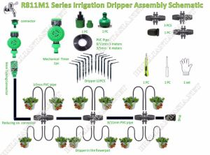 China Diy Micro Drip Irrigation System With Hose Faucet Timer
