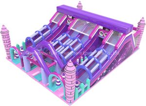 Pink Funland Castle Inflatable Slide Inflatable Toys for Amusement Park