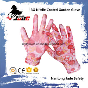 13G Nitrile Coated Garden Safety Work Glove pictures & photos