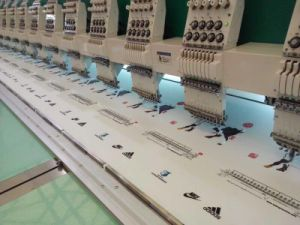 18 Head 9 Colors Flat Embroidery Machine
