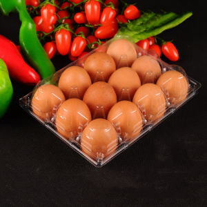 12PCS food grade clear plastic disposable container egg tray(pet tray) pictures & photos