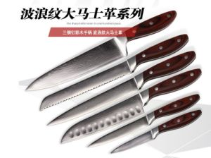 Wholesale Stainless Steel Best Chef Knife Set with Acrylic Holder